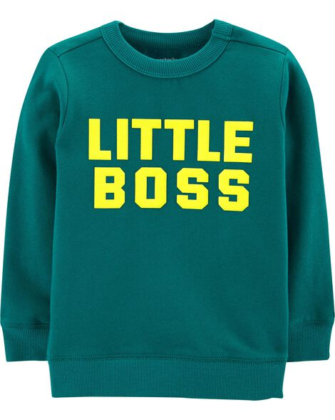 Display product reviews for Little Boss Fleece Pullover