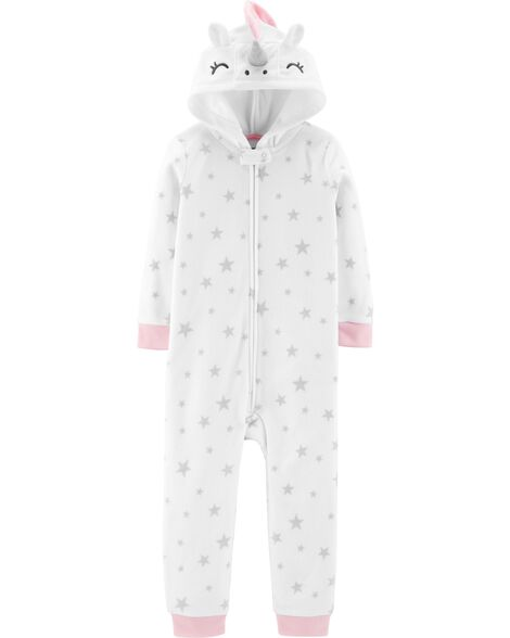 Display product reviews for 1-Piece Unicorn Hooded Fleece Footless PJs