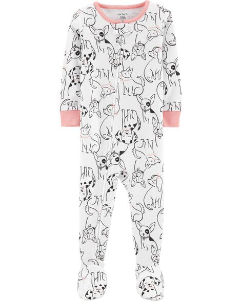 922ecc388be Display product reviews for 1-Piece Dog Footed Snug Fit Cotton PJs