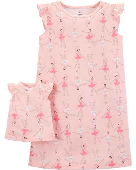 Display product reviews for 2-Pack Doll Ballerina Poly Nightgowns