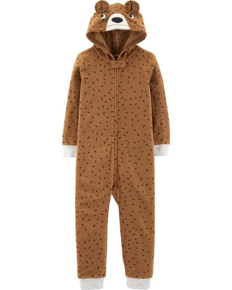 Display product reviews for 1-Piece Bear Hooded Fleece Footless PJs
