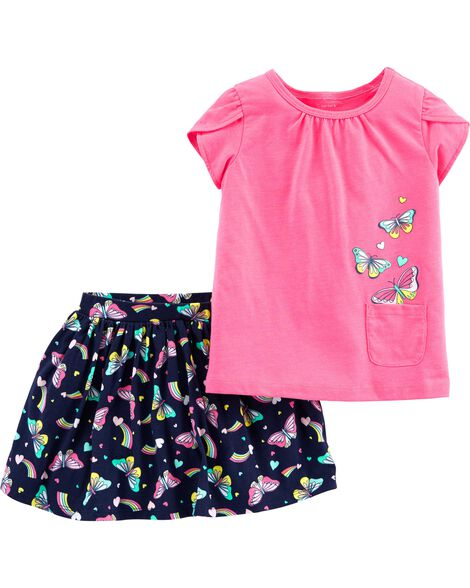 Display product reviews for 2-Piece Butterfly Top & Skort Set