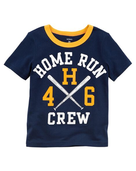 Display product reviews for Home Run Crew Jersey Tee