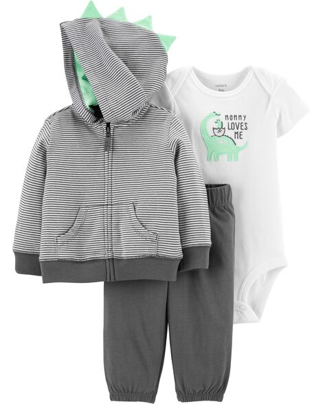Display product reviews for 3-Piece Dinosaur Little Jacket Set