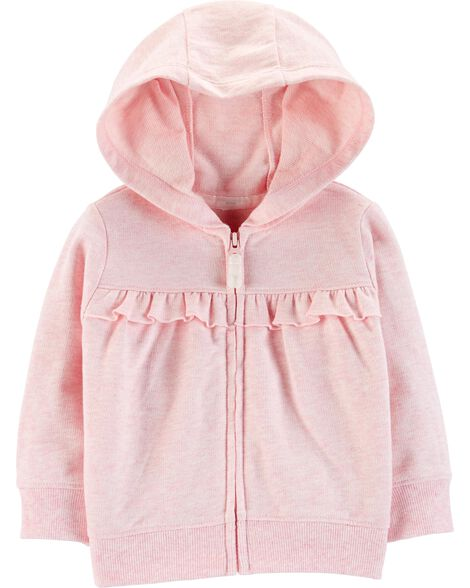 Display product reviews for Ruffle Zip-Up French Terry Hoodie