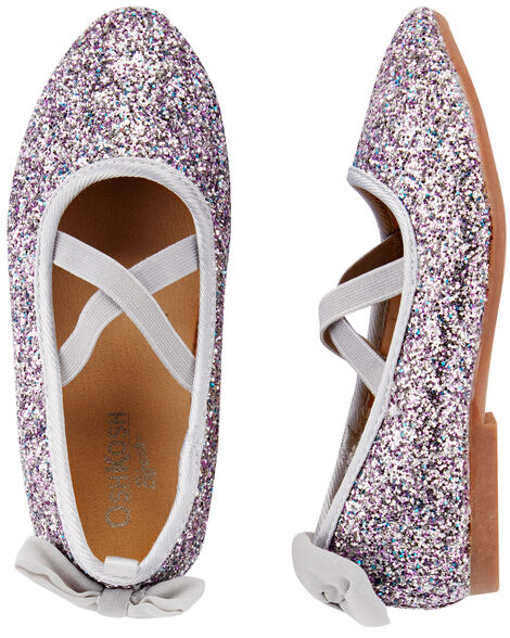 Display product reviews for OshKosh Silver Glitter Flats