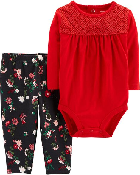 Display product reviews for 2-Piece Floral Bodysuit Pant Set