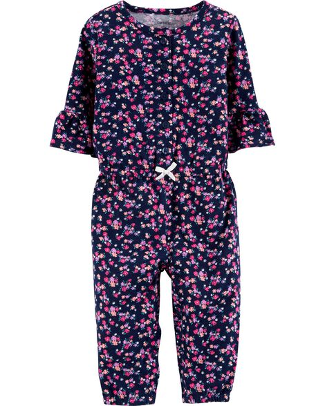 0b20571aa Baby Girl One-Piece Jumpsuits & Bodysuits | Carter's | Free Shipping