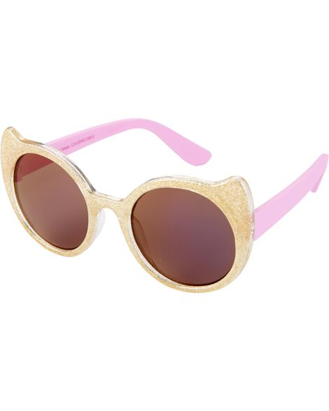 Display product reviews for Gold Glitter Cat Sunglasses