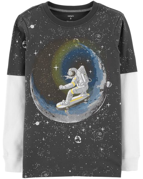 Display product reviews for Space Layered-Look Tee