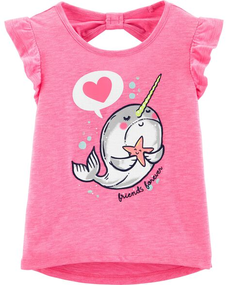 952bb804682 Display product reviews for Neon Narwhal Hi-Lo Slub Tee