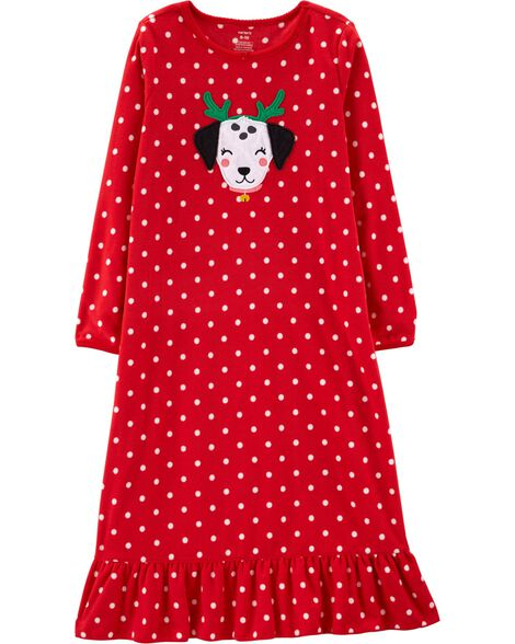 Display product reviews for Christmas Dog Fleece Nightgown