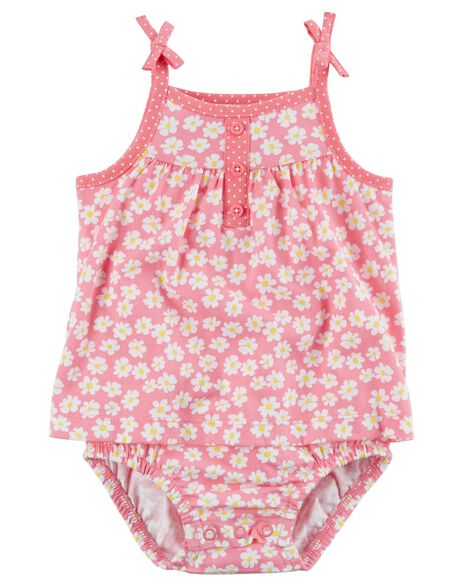Display product reviews for Floral Tie Shoulder Sunsuit