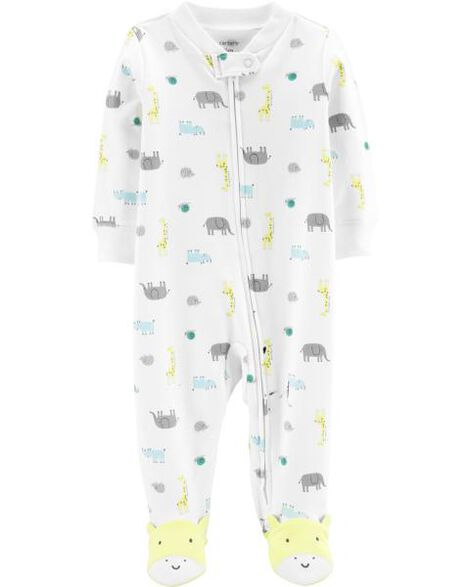 Display product reviews for Animal Zip-Up Cotton Sleep & Play