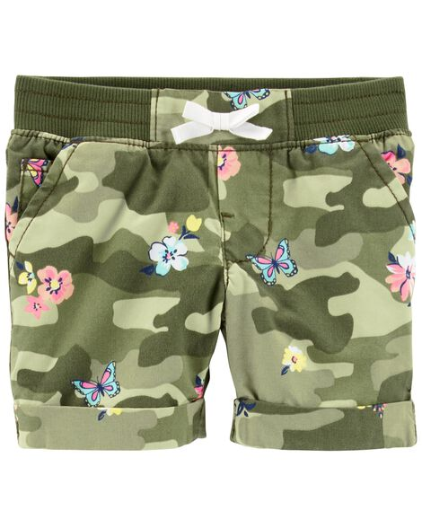 Display product reviews for Pull-On Floral Camo Twill Shorts