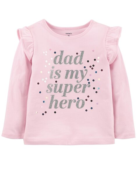 Display product reviews for Dad Is My Super Hero Flutter Tee