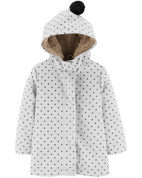 Display product reviews for Polka Dot Sherpa-Lined Rain Jacket