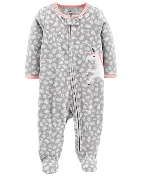 Display product reviews for Unicorn Zip-Up Fleece Sleep & Play