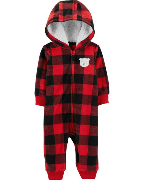 Display product reviews for Buffalo Check Zip-Up Fleece Jumpsuit