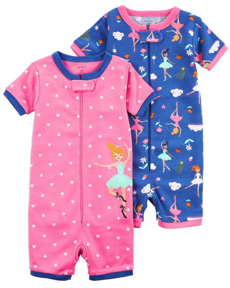 8a98c560be Display product reviews for 2-Pack Zip-Up Snug Fit Cotton Romper PJs