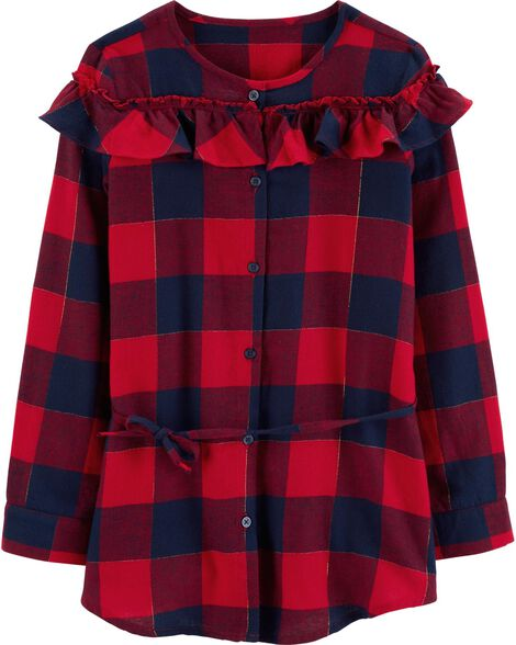 Display product reviews for Checkered Ruffle Tunic