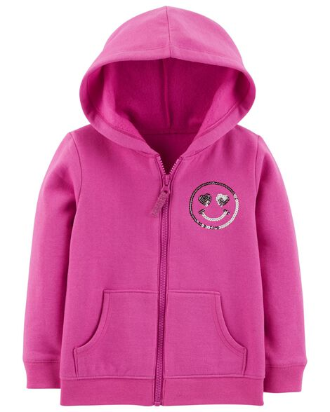 Display product reviews for Zip-Up  Smiley Face Hoodie