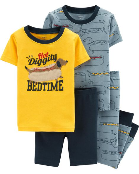 Display product reviews for 4-Piece Hot Dog Snug Fit Cotton PJs