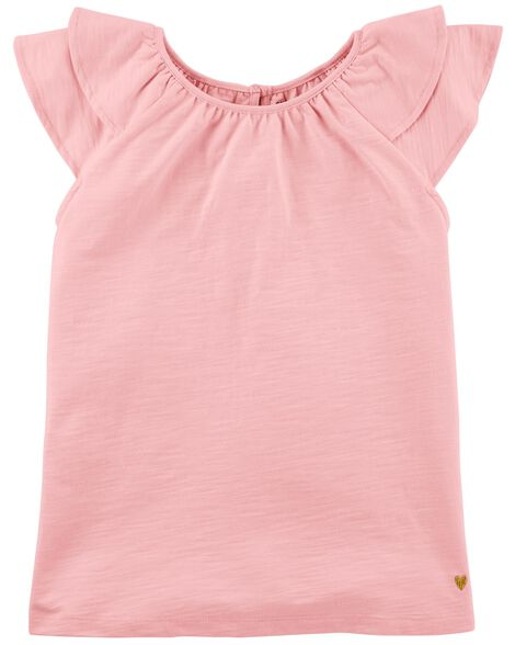 Display product reviews for Double Ruffle Slub Top
