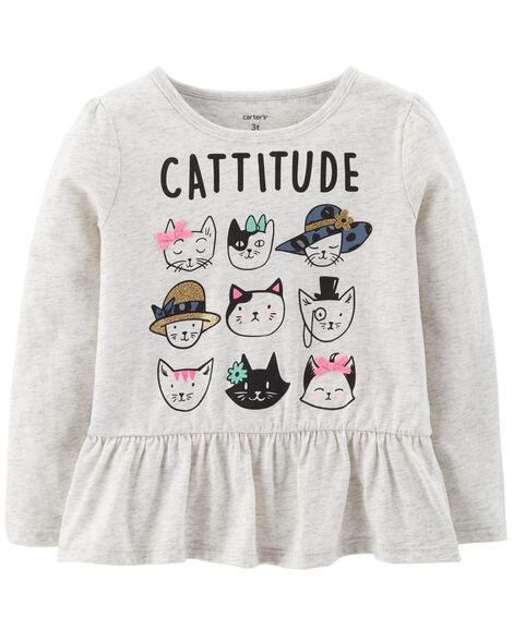 Display product reviews for Cattitude Ruffle Tee