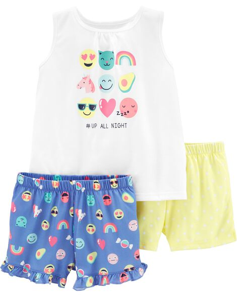 c1e8a992d8233 Display product reviews for 3-Piece Emojis Poly PJs