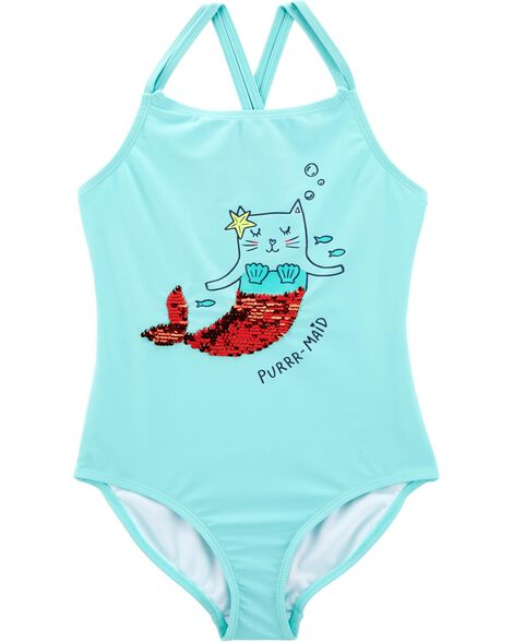 Display product reviews for Carter's Sequin Cat Mermaid Swimsuit