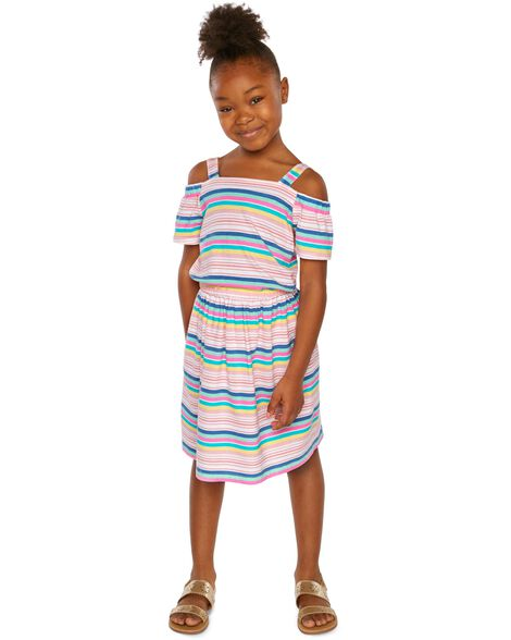 f3f2e24fceb Display product reviews for Cold Shoulder Striped Dress