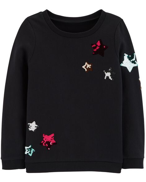 Display product reviews for Sequin Star French Terry Pullover