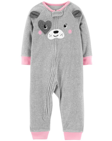 Display product reviews for 1-Piece Dog Fleece Footless PJs