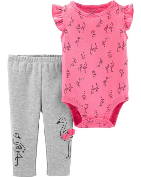 1137f198 Display product reviews for 2-Piece Flamingo Bodysuit Pant Set