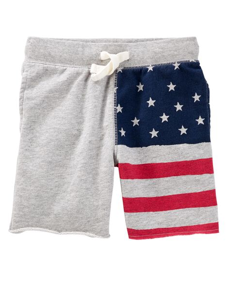 Display product reviews for Pull-On American Flag Shorts