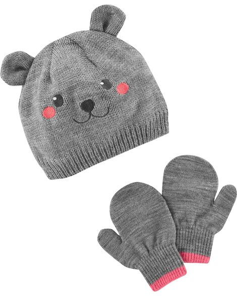 Display product reviews for Bear Hat & Mitten Set