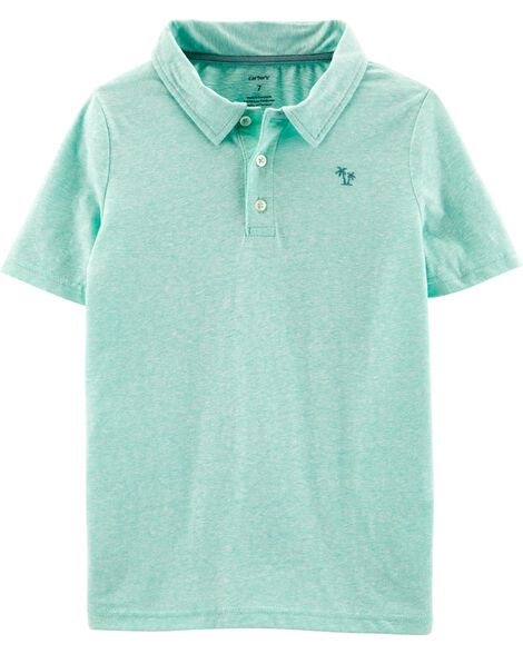 Display Product Reviews For Snow Yarn Jersey Polo