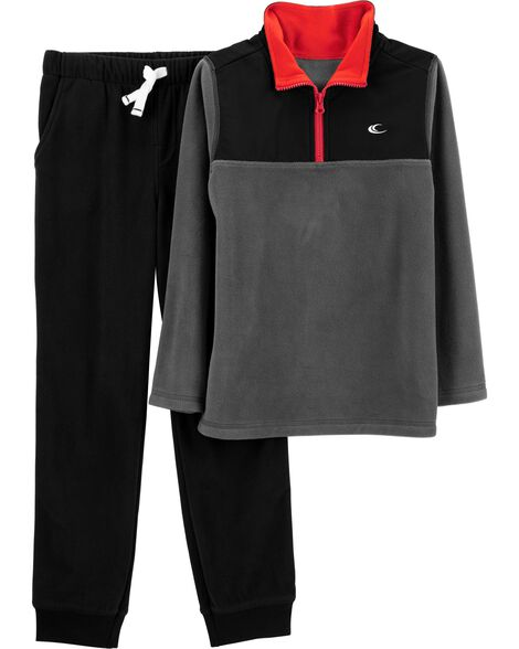Display product reviews for 2-Piece Half-Zip Fleece Pullover & Jogger Set