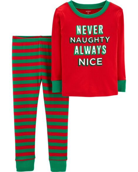 Display product reviews for 2-Piece Toddler Christmas Snug Fit Cotton PJs