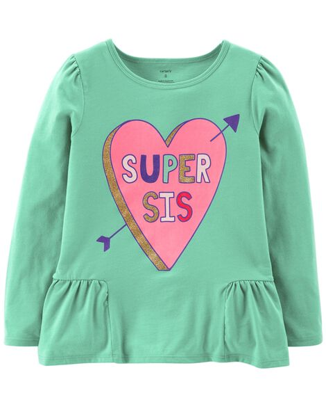 Display product reviews for Super Sis Ruffle Tee