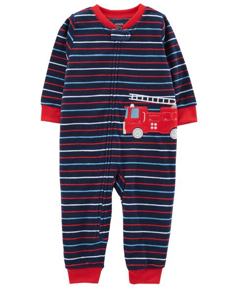 Display product reviews for 1-Piece Firetruck Fleece Footless PJs