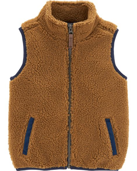 Display product reviews for Zip-Up Sherpa Vest