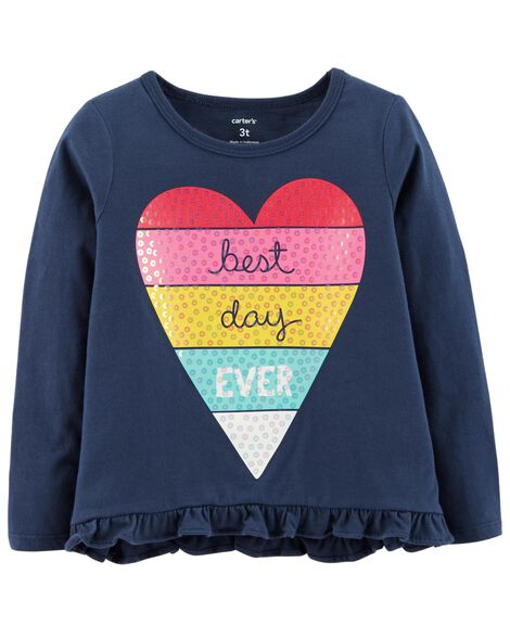 Display product reviews for Best Day Ever Hi-Lo Ruffle Tee