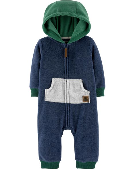 Display product reviews for Zip-Up Hooded Fleece Jumpsuit