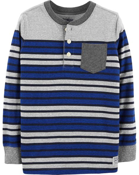 Display product reviews for Striped Henley