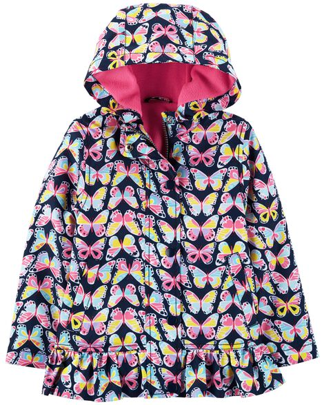 Display product reviews for Butterfly Fleece-Lined Rain Jacket