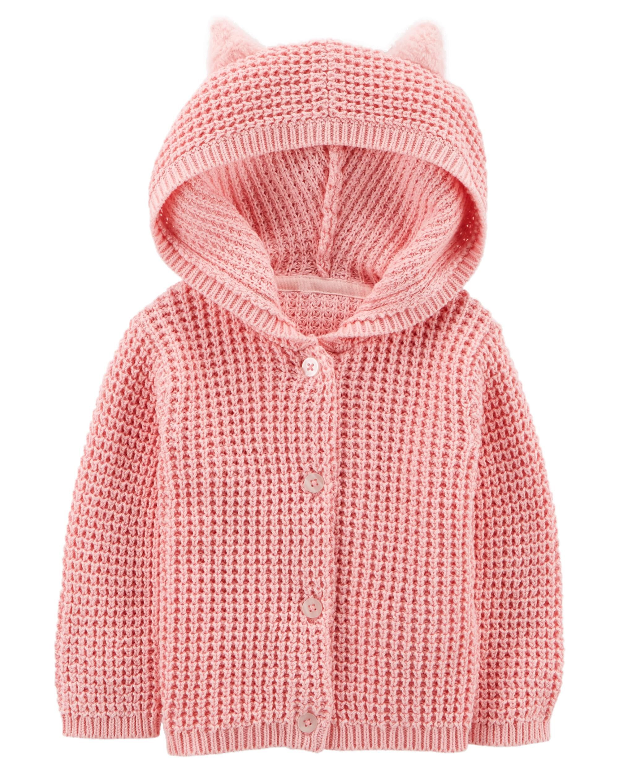 c3ec51a6b Carters Baby Girls Layering Pink 6 Months Carters 127G250 Sweaters