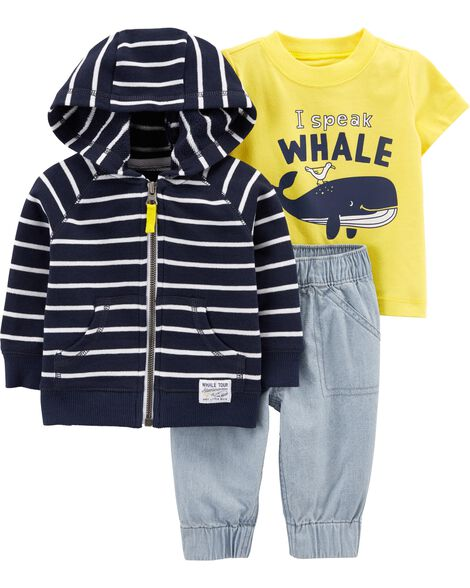 8804c51c1 Display product reviews for 3-Piece Whale Little Jacket Set