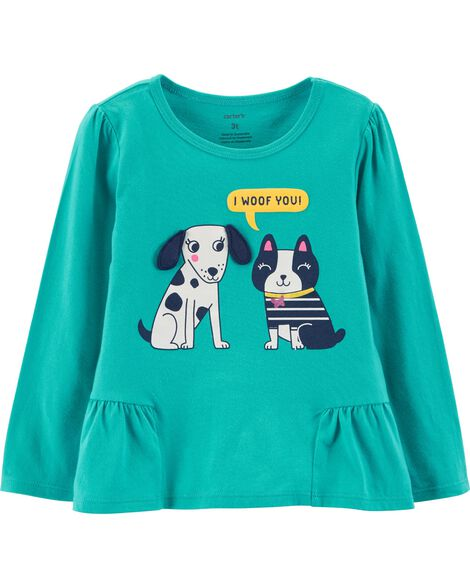 Display product reviews for Dog Ruffle Hem Top